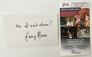 Garry Moore Signed Autographed 3x5 Card JSA Certified Game Show Host Variety