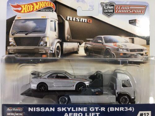 HOT WHEELS TEAM TRANSPORT NISSAN SKYLINE GT-R BNR34