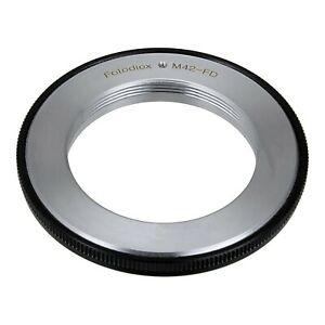 T90 M42 AE-1 Program AL-1 42mm x1 Thread Screw T60 T80 AE-1 FTbn AT-1 FTb AV-1 New F-1 TX Fotodiox Pro Lens Mount Adapter T70 TLb T50 EF F-1n A-1 Lens to Canon FD Mount Cameras fits Canon F-1