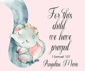 ba88d123f For This Child We Have Prayed - Baby Blanket - Bible Quote - 1 ...