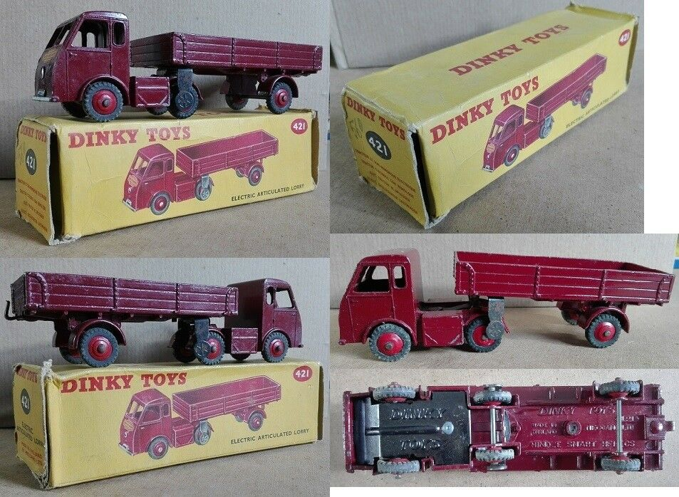 Dinky Toys 421  Electric Articulated Lorry British Railways die cast 1 43  bon prix