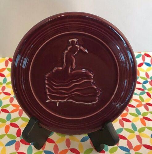 Fiestaware Claret Trivet Fiesta Retired Burgundy Dancing Lady Hot Plate