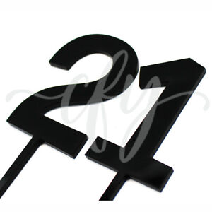 Individual Cake Topper Acrylic Gold Mirror 10 13 16 18 21 30 40 50 60 70 80 90