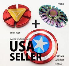 captain America Shield + Iron Man + Thor Metal Fidget Hand Spinner USA seller