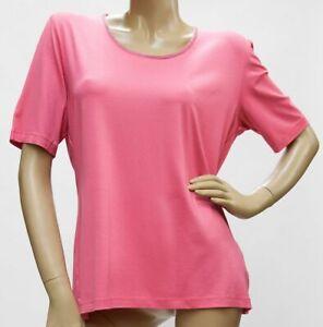 Shirt-Kurzarm-Rundhals-Viskose-mit-zartem-Strass-pink-38-52