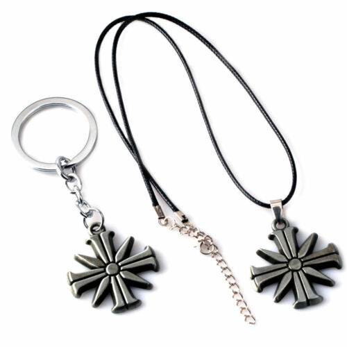 New Far Cry 5 Action Figure Toy Eden/'s Gate Metal Keychain Keyring Necklace
