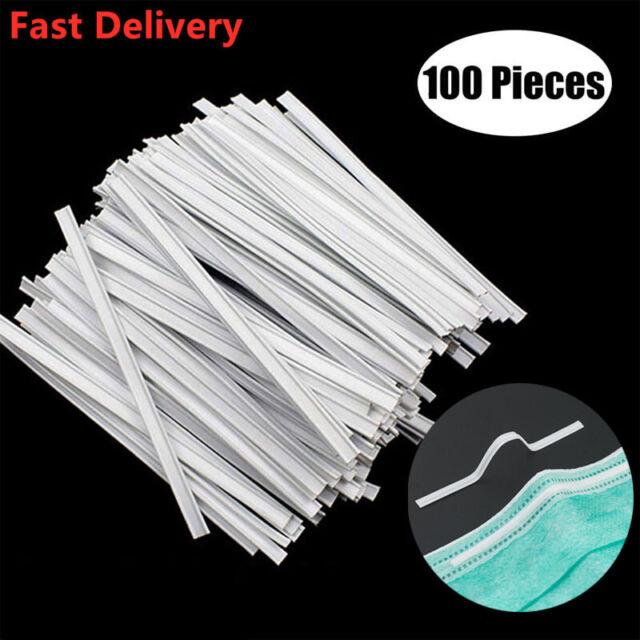 DIY Handmade Accessories 100PCS Strip Nose Bridge Wire for Mask,Adhesive Metal Flat Aluminum Bar Strip Trimming Strip