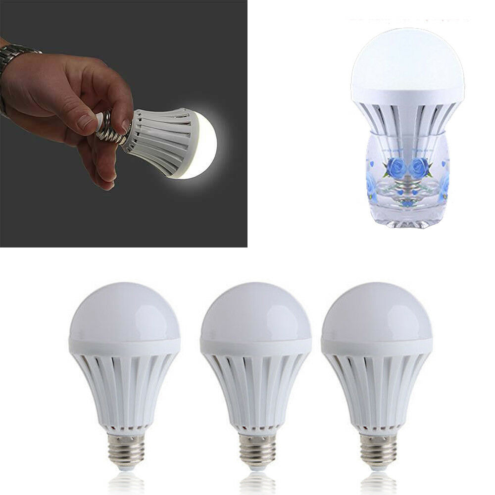 Energy Saving LED Intelligent Lamp Emergency Light Battery Rechargeable Bulb New