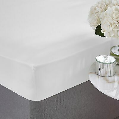 Silentnight Egyptian Cotton 40cm Deep Fitted Sheet, White, Double/King/Super K