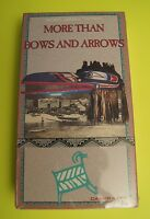 More Than Bows And Arrows Vhs Video Native American Indians Prehistoric Mounds