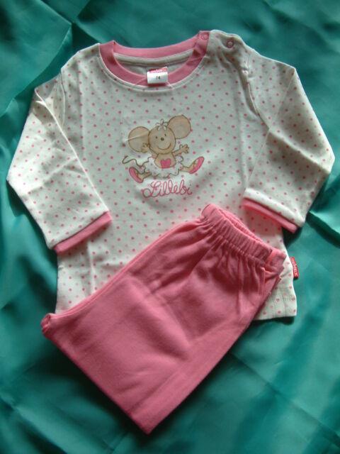 STEINBECK *Lillebi* Süßer Schlafanzug für *kleine* Mäusechen Gr. 68  weiß-rosa