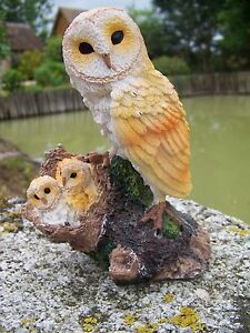 Mo0519 Figurine Statuette Statue Chouette Hibou Chouette Oiseau Nid Bebe Qjbviblh-07224821-256745810
