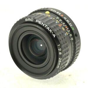 Pentax-A-28mm-f2-8-SMC-Weitwinkel-Objektiv-mit-Verschlusskappen-fuer-PK-PKA