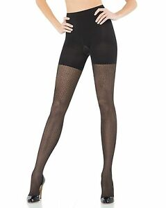 dc293aeba23f8 Image is loading SPANX-Black-Patterned-Pucker-Up-Tight-End-Bodyshaping-