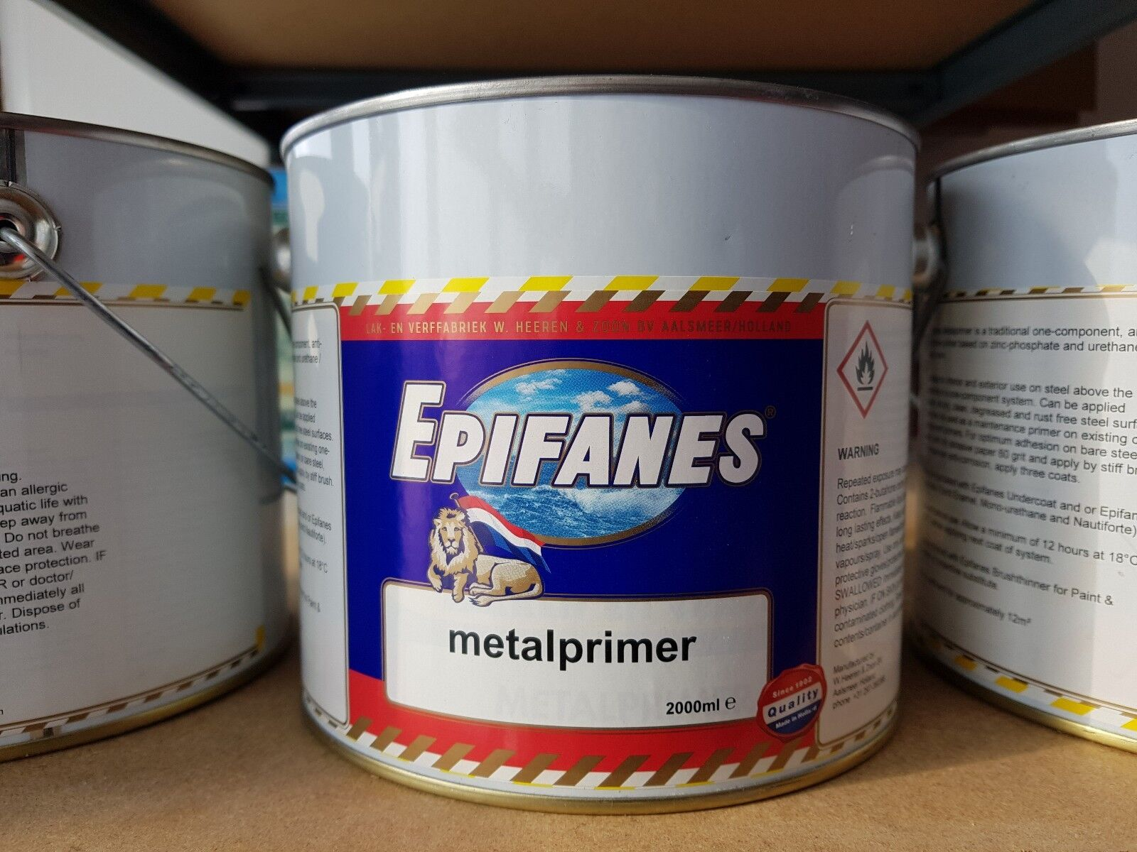 Epifanes Metal Primer Grey 2000ml CLEARANCE PRICE Free Delivery