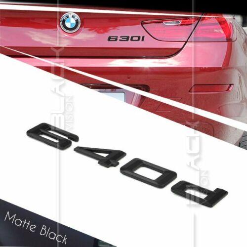 MATTE BLACK 640d REAR BOOT NUMBER EMBLEM BADGE FOR BMW E63 E64 F06 F12 F13 M TEC