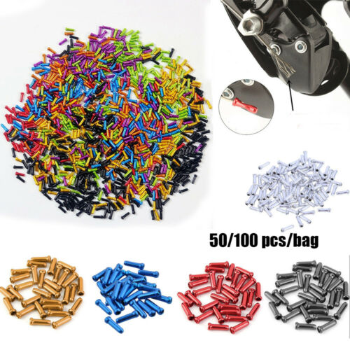 50//100xAluminum Bicycle Brake Shifter Inner Cable Tips Wire End Cap Crimps RE