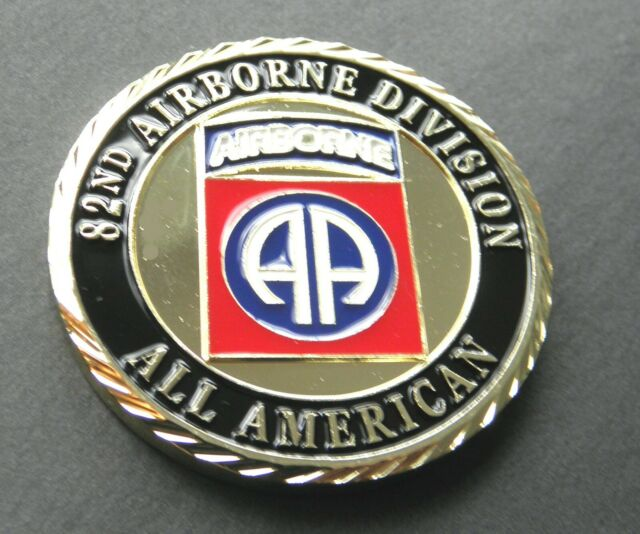 US ARMY 82ND AIRBORNE DIVISION CHALLENGE COIN 1 6 INCHES PATRIOTIC SERIES -  NEW