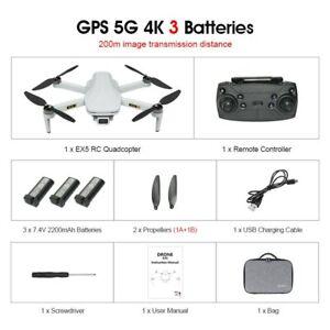 Eachine EX5 Drone RC Quadcopter 4K GPS HD Mini, Cámara Profesional 5G WIFI 1000
