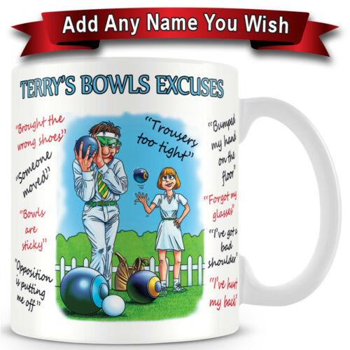 Bowls Makes an Ideal Gift Personalised Excuse Ceramic Coffee Mug