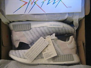 4651cf115 Adidas NMD R1 Three 3 Stripes Whiteout   White Boost S76518 Size ...