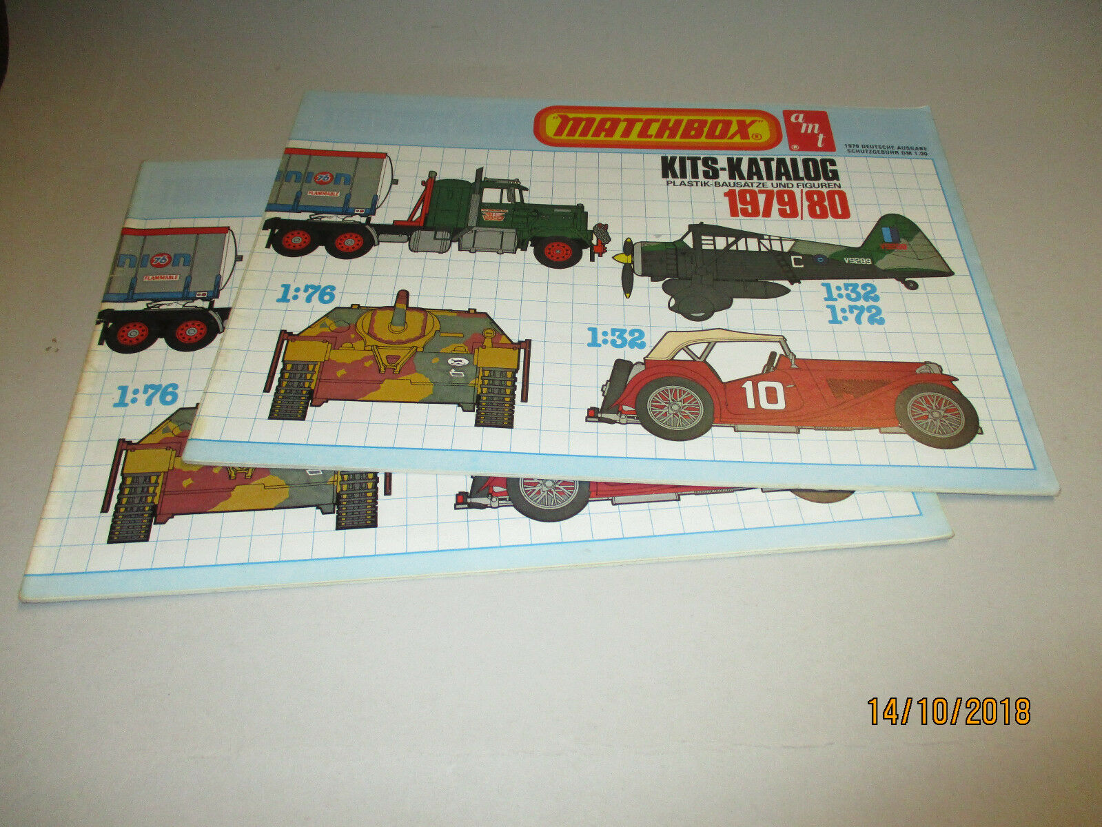 Matchbox Model Bausätze Katalog 1979 80