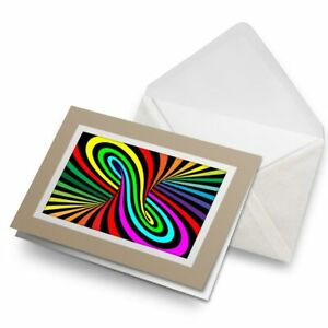 Greetings-Card-Biege-Psychedelic-Pattern-Hippy-14644