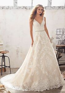 Image Is Loading Size 20 Mori Lee Wedding Gown Style 8124
