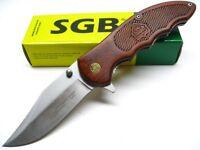 Puma Sgb Red Pakkawood Vintage 3530 Folder Straight Folding Pocket Knife