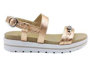 Sandali-scarpe-da-donna-basso-Nero-Giardini-P908210D-con-cinturino-casual-estate