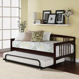 image is loading twin bed daybed espresso wood frame kids bedroom