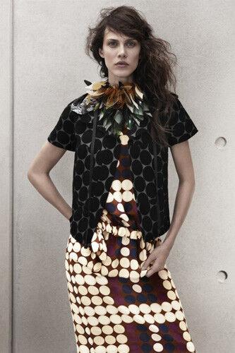 Marni H&M silk open back dot print top M Medium 40 10 blouse