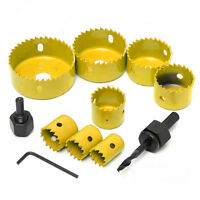 19-64mm Set Carbon Steel Hole Saw Drill Wood Sheet Metal Cutting Tool Kits HOT #