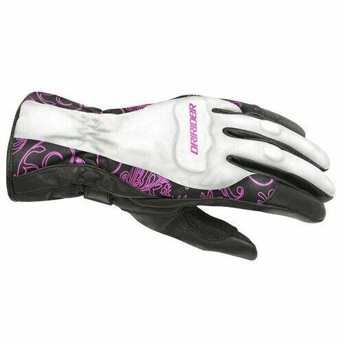 4004328/_3 NEW Motorcycle Dririder Ladies Vivid 2 Winter White//Pink Road Gloves