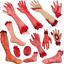 Walking-Dead-Skeleton-Halloween-Bloody-Hands-Zombie-Skinned-Arm-Prop-Body-Parts miniature 1
