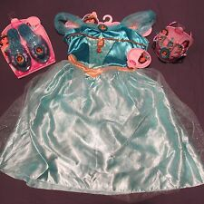 NWT Jasmine Costume Lot Dress Shoes Tiara Crown Girl 4 5 6 X  Disney Princess