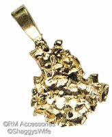 Gold Nugget Charm Coin & Money Pendant 24k Gold Plated Jewelry Golden 4