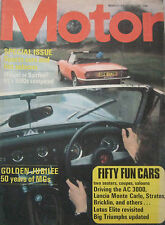 Motor magazine 24/5/1975 featuring MG, Triumph, Lotus, AC 3000, Bricklin SV1
