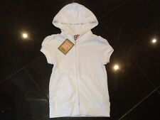 NWT Juicy Couture New Genuine Ladies White Towelling Hoody Size Small With Logo