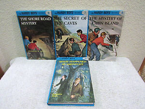 Lot-of-4-The-Hardy-Boys-Mysteries-by-Franklin-W-Dixon-Hardback-Book-Series