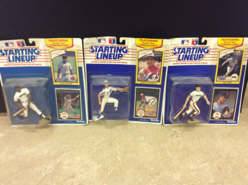 Lot of 3 New 1990 Starting Lineup Figures Will Clark, Kevin Mitchell, Galarraga