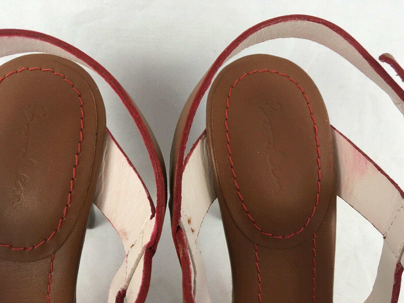 Boden Boden Boden Sandal donna 39 Leather Strappy Tan Marroneeee NEW 4  Heel  8.5 a617f9
