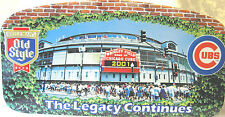 CHICAGO CUBS WRIGLEY FIELD OLD STYLE METAL SIGN The Legacy Continues NOS LARGE