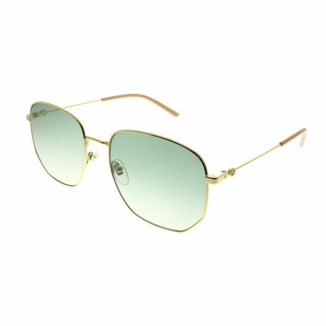 Sunglasses Gucci Authentic Gg0396s Metal ORO Verde Gradient 002 for ... e5b4383daa