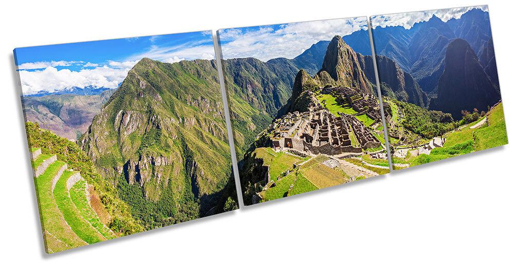 Lienzo Enmarcado Machu Picchu rojo Perú impresión Triple Pa rojo Picchu  Arte 18b13b