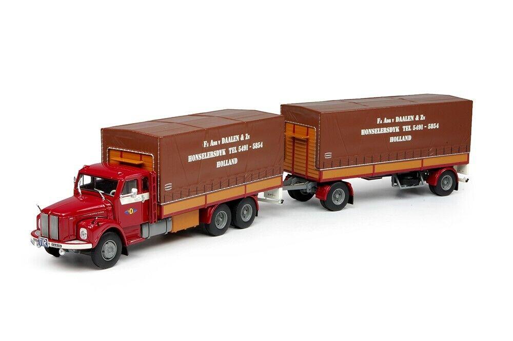 Scania - L76 BeGe - Planenanhänger van Daalen 68656 Tekno 1137 1 50
