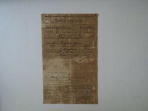 """Bacardi Rum"" Emilio Bacardi Hand Signed Official Cuban Document Dated 1899 COA"