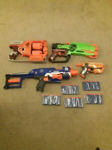 Nerf-Flipfury-Stockade-Crossfire-Bow-amp-Firestrike-Elite-50-New-Darts-Bundle