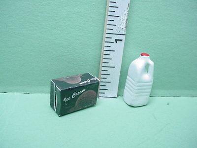 Miniature 1//2 Gallon Milk /& Ice Cream #IM65172-1//12th Scale