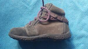 Brauch Mode bestbewertet Details zu RICOSTA Pepino Schuhe Gr. 21 Grau-Lila Leder Sympatex  Lauflernschuhe Herbst TOP